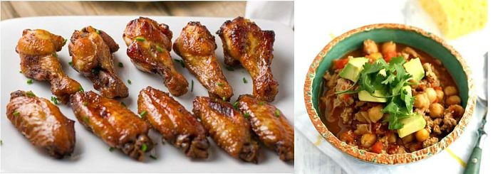 Super Bowl Recipes – Honey Garlic Chicken Wings & 5 Ingredient Turkey Chili